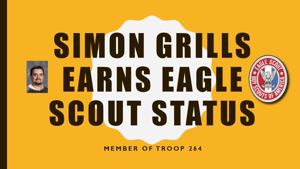 Grills Earns Eagle Scout Status