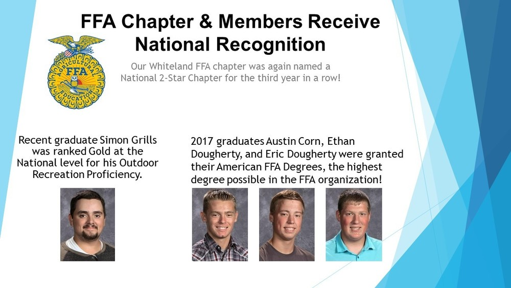 FFA Chapter & Members Receive National Recognition