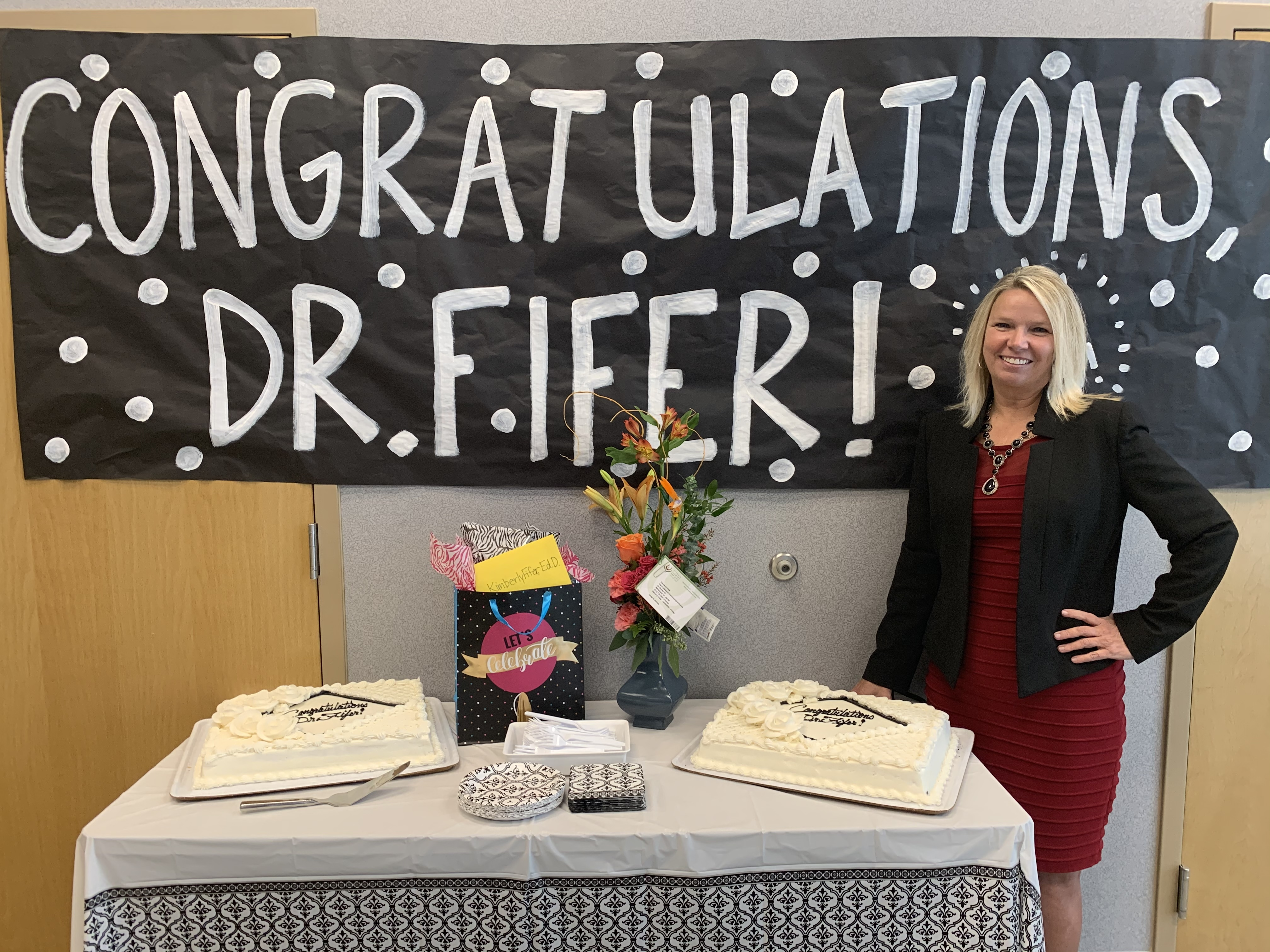 Congratulations to Dr. Kimberly Fifer.