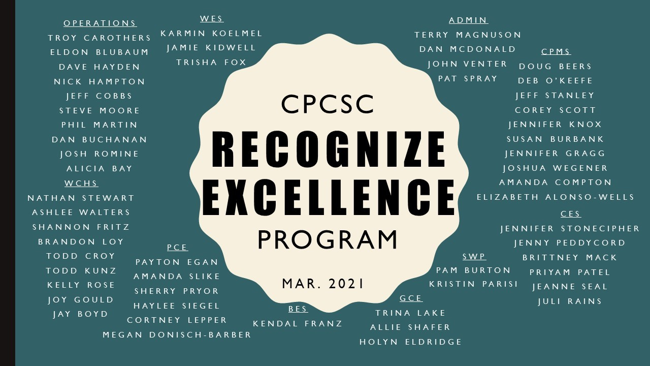 Recognize Excellence Mar